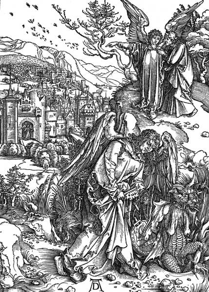 Durer's Angel With The Key To The Bottomless Pit