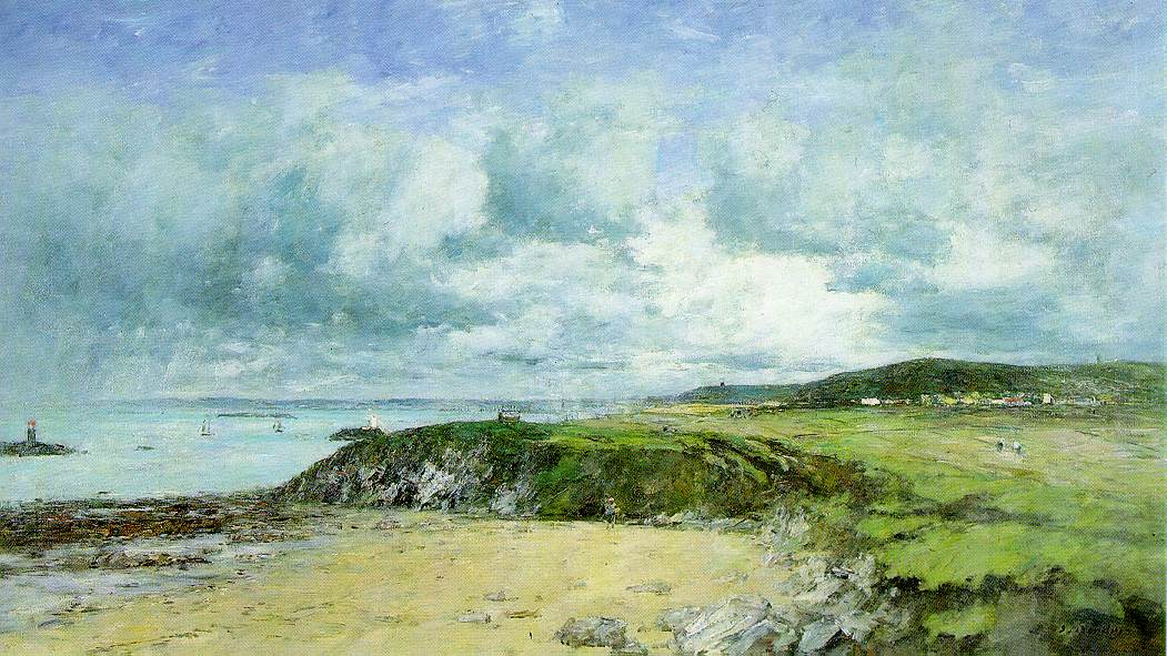 Eugene Boudin's The Coast of Portieux