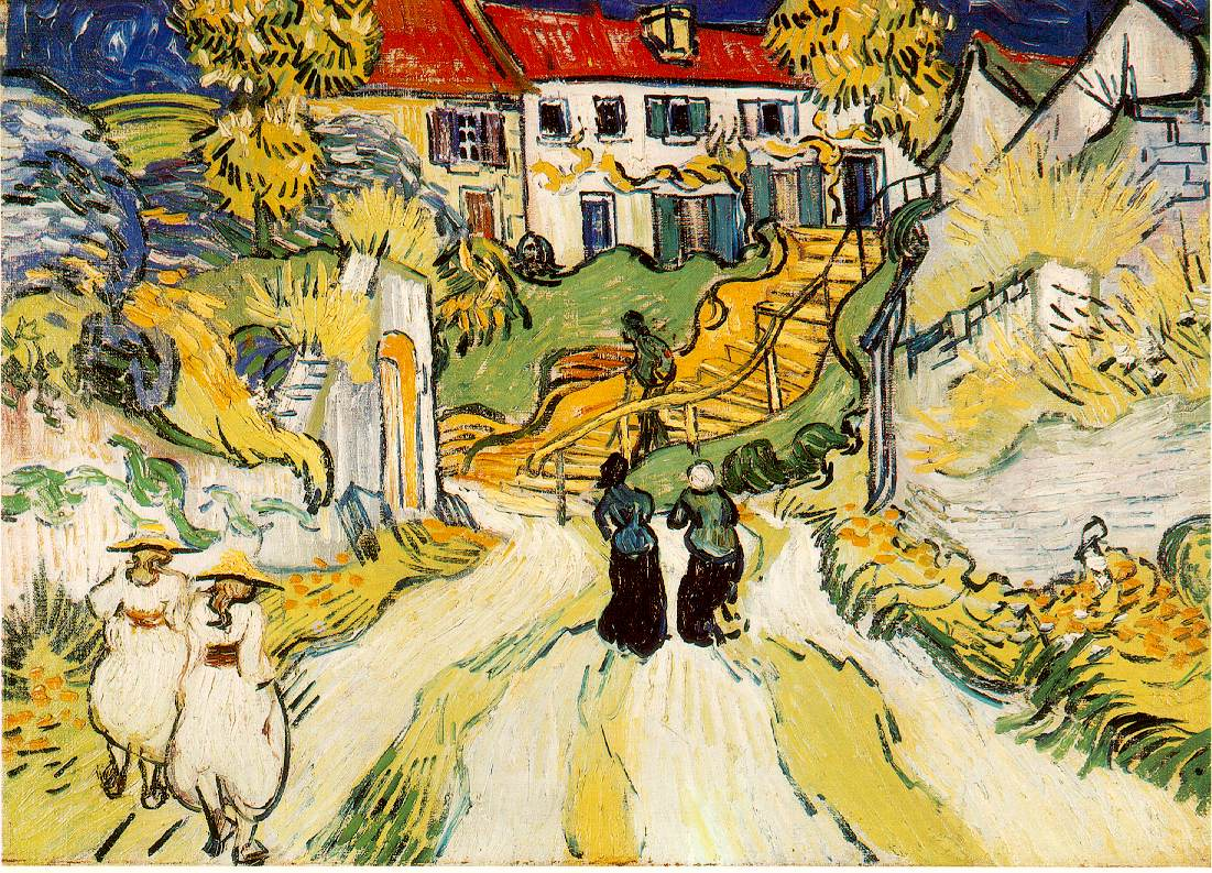van Gogh's Village Street and Stairs With Figures