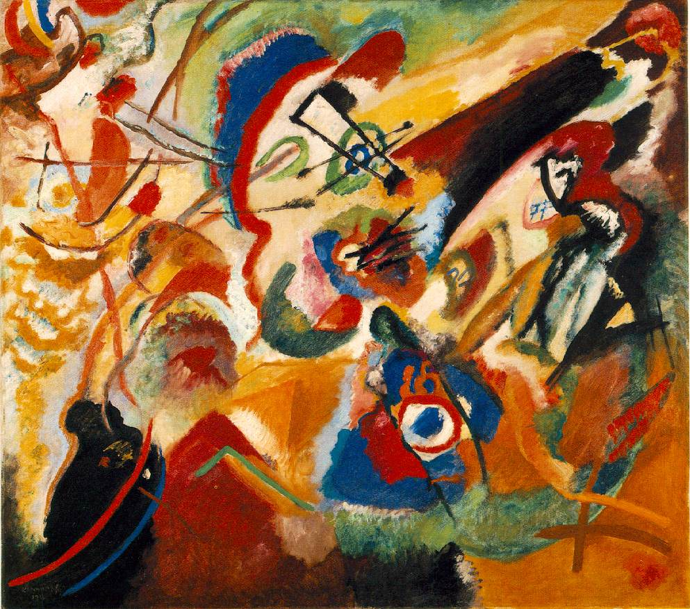 Kandinsky's Fragment 2 for Composition VII