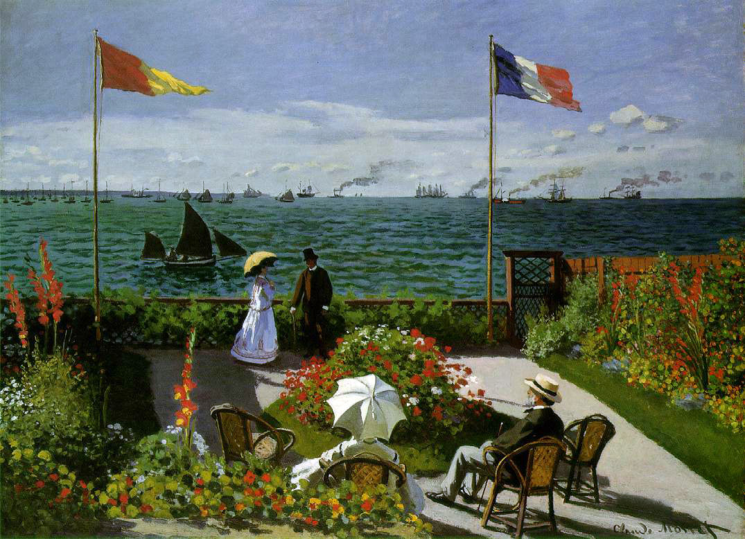 Monet's Beach At Sainte-Adresse