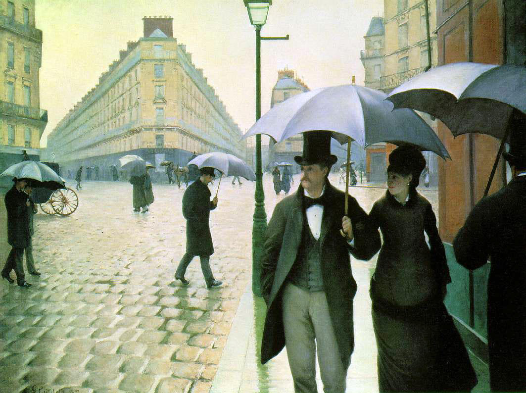 Caillebotte's Rainy Day