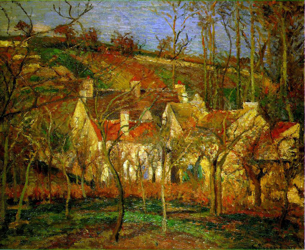 Pissarro's Red Roofs