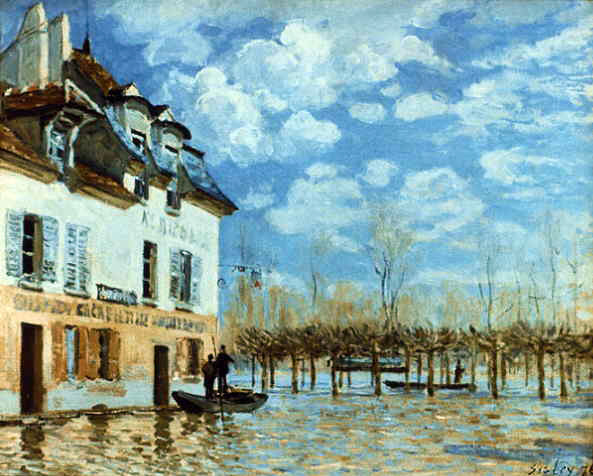 Sisley's Boat In The Flood At Port-Marley